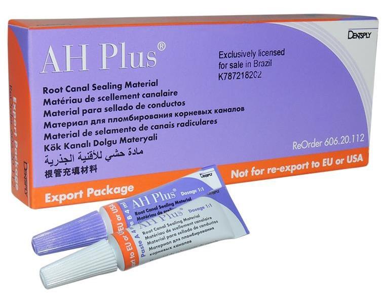 изображение AH Plus – двухкомпонентная паста для пломбирования корневых каналов зубов.