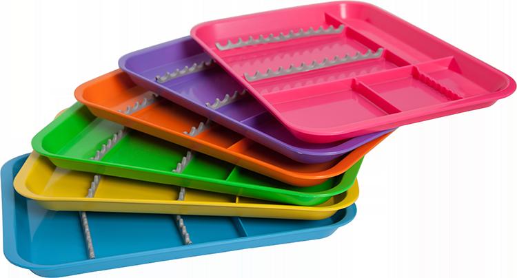 изображение Лоток плоский голубой для инструментов Divided tray w/cower