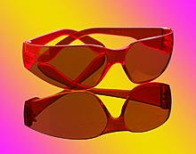 Очки защитные медицинские оранжевые / (18) TEMREX PROVISION EYEWEAR IC