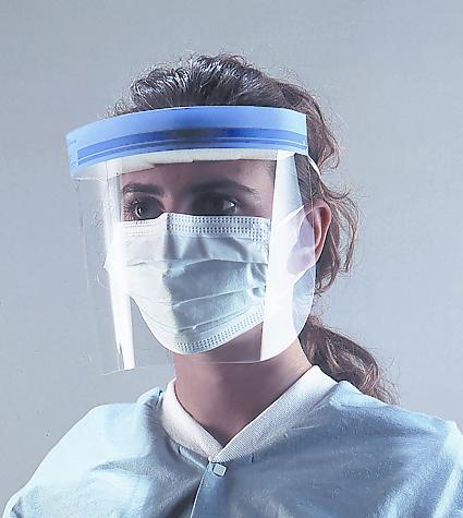 Защитные маски-щитки из пластмассы Face Shield Crosstex
