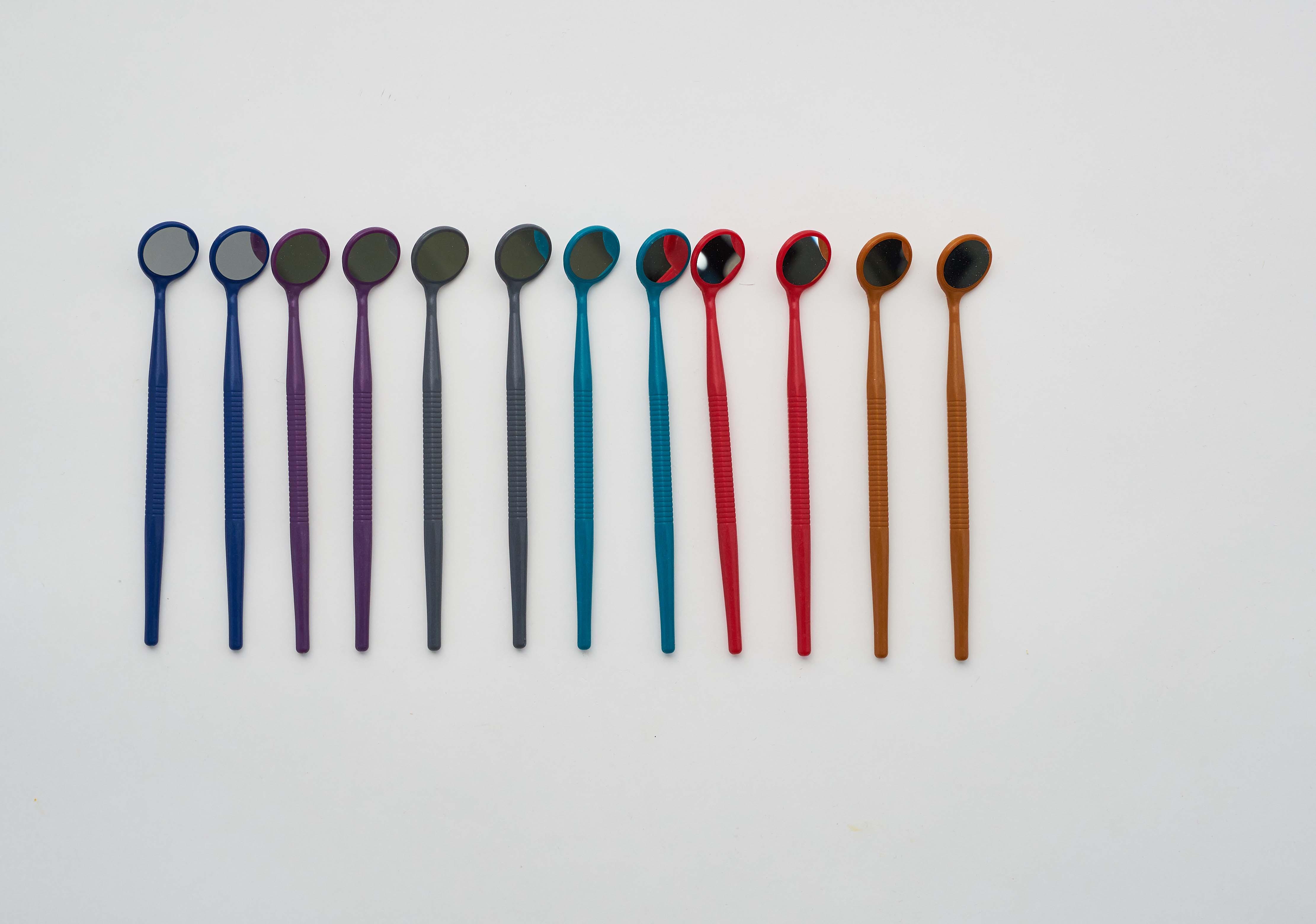 Пластиковые цветные зеркала набор (12 шт.) ZIRC