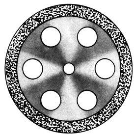 Диски алмазные «Standart» DISC 911/220 (0,55 mm) двухст.край.отверстия
