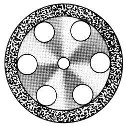 Диски алмазные «Standart» DISC 911/190 (200) (0,55 mm) двухст.край.отверстия