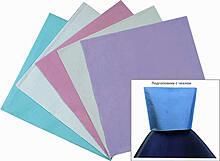 Чехлы голубые для подголов 33x33 см одноразовые (500 шт.)