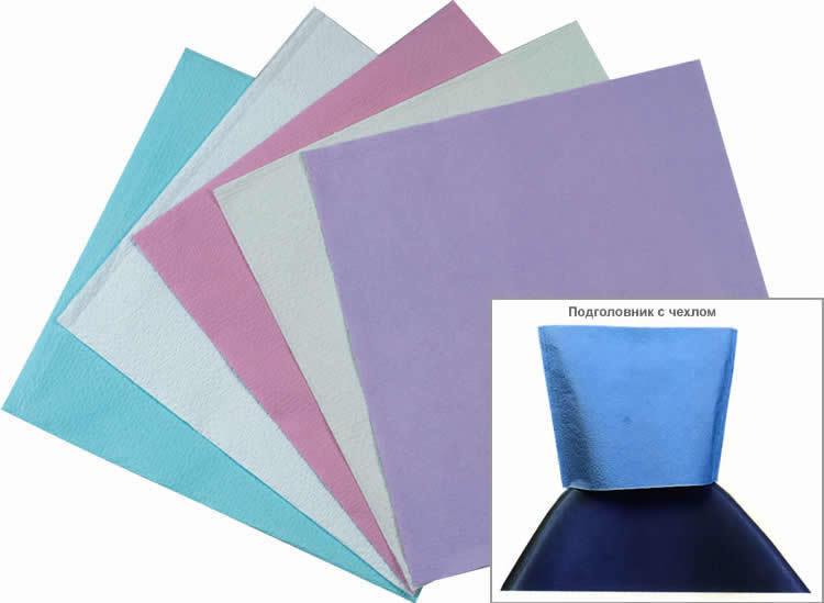 изображение Чехлы голубые для подголов 33x33 см одноразовые (500 шт.)