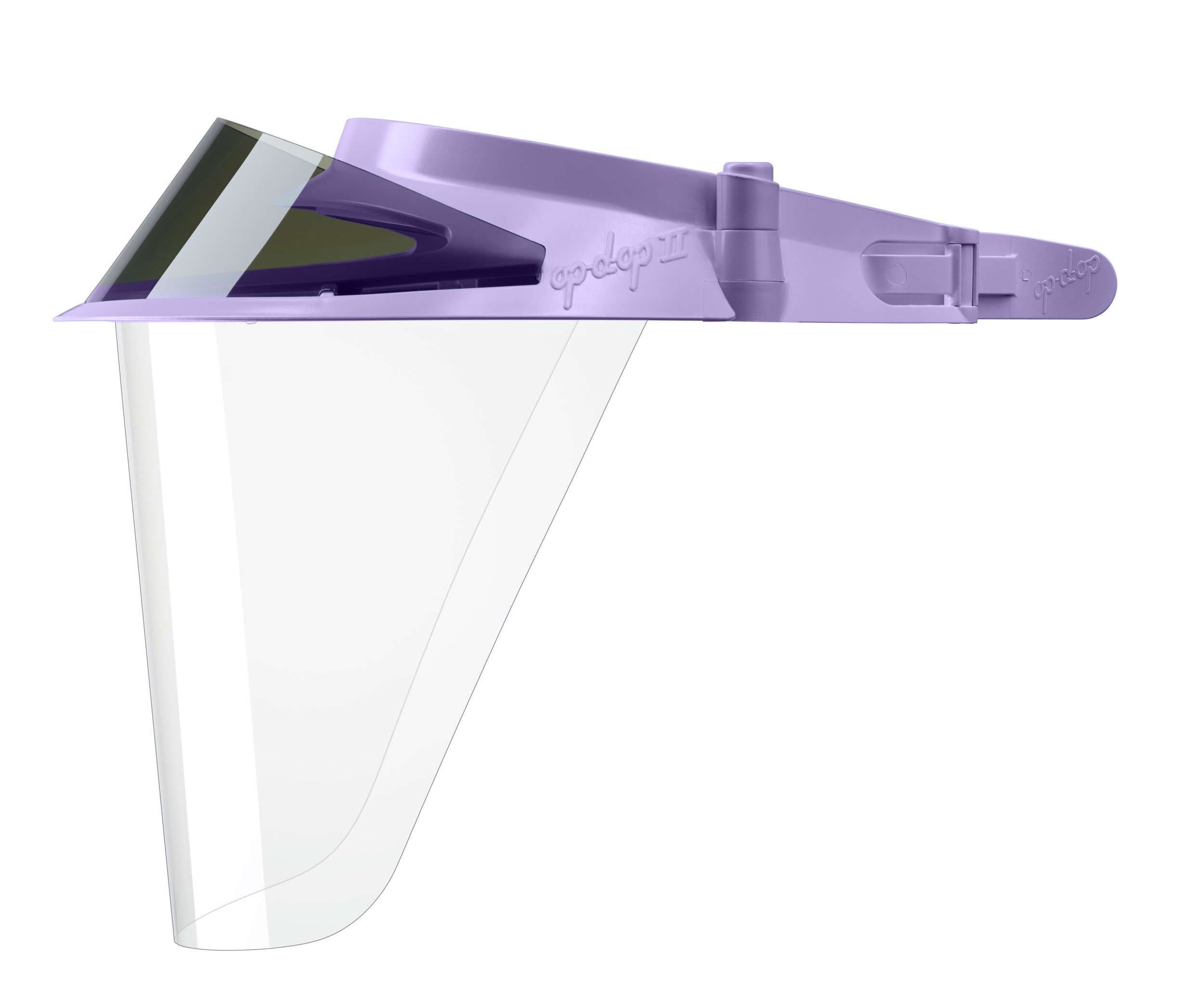 изображение Фиолетовые экраны защитные с козырьком для лица из пластмассы OP-D-OP FACE SHIELD (II)
