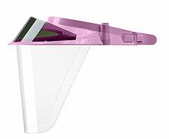Розовые экраны защитные с козырьком для лица из пластмассы OP-D-OP FACE SHIELD (II)