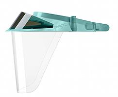 Зеленые экраны защитные с козырьком для лица из пластмассы OP-D-OP FACE SHIELD (II)