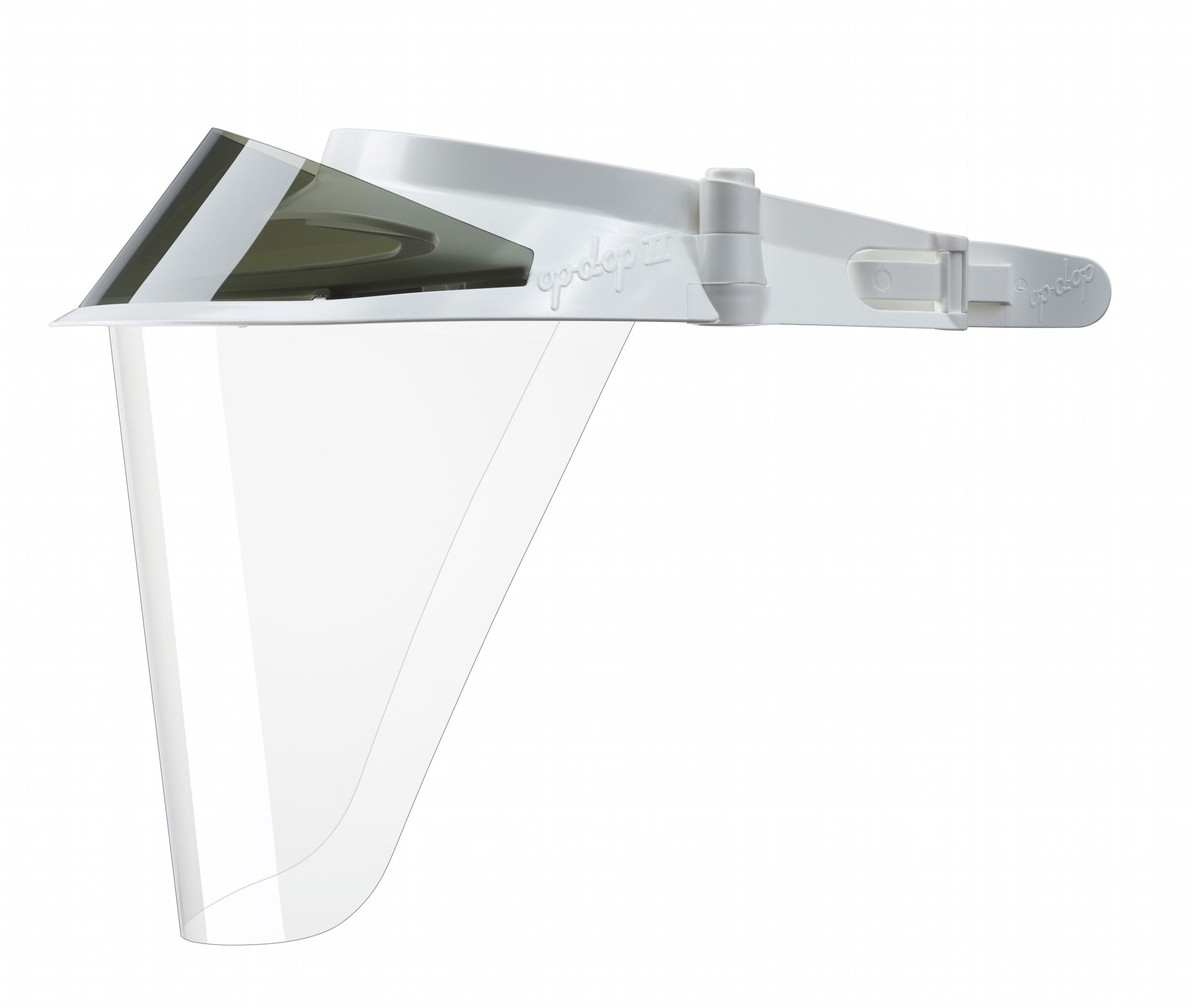 изображение Белые экраны защитные с козырьком для лица из пластмассы OP-D-OP FACE SHIELD (II)