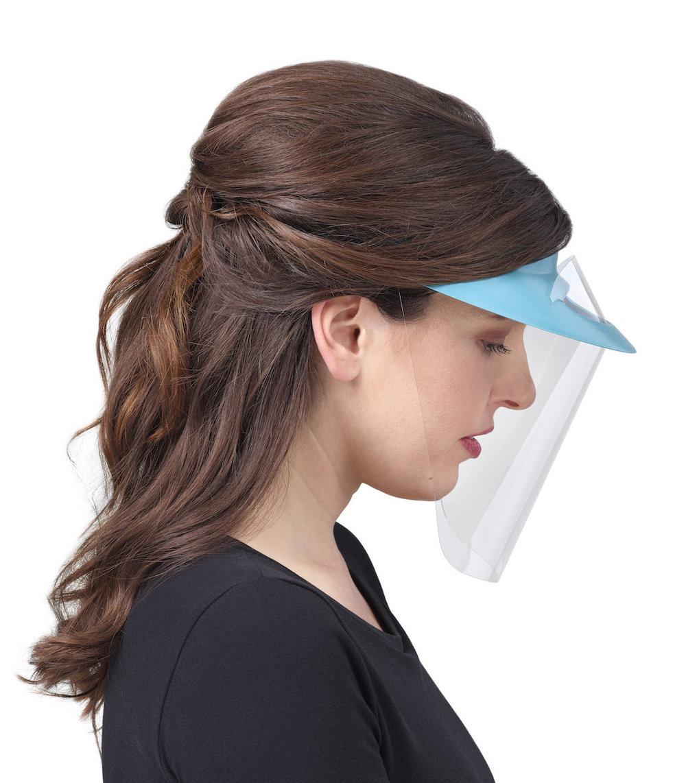 изображение Синие экраны защитные с козырьком для лица из пластмассы OP-D-OP FACE SHIELD (I)