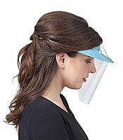 Голубые экраны защитные с козырьком для лица из пластмассы OP-D-OP FACE SHIELD (I)