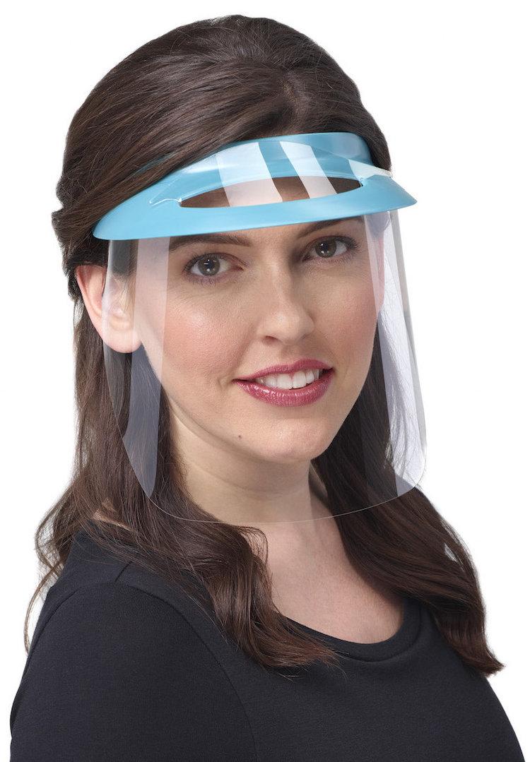 изображение Бордовые экраны защитные с козырьком для лица из пластмассы OP-D-OP FACE SHIELD (I)