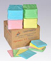 Салфетки для пациентов СТАНДАРТ 500шт./уп. (1 слой бумаги+1 слой полиэтилена), цвета: голубой, салатовый, лимонный, розовый
