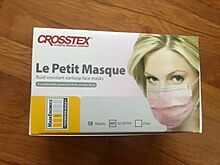 Crosstex Le Petite Earloop Face Masks Повышенная степень защиты ASTM Level 1 Pink 50 шт США