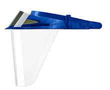 Синие экраны защитные с козырьком для лица из пластмассы OP-D-OP FACE SHIELD (II)