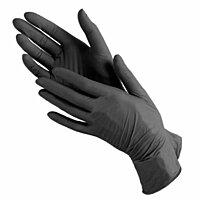 Перчатки нитриловые Blossom 100шт (50 пар) L (Large) Черные