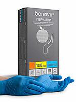 Перчатки нитрил Benovy 200 шт (100 пар) Синие BENOVY (Бенови) L Размер