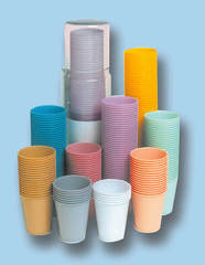 изображение Стаканчики желтые пластиковые одноразовые 140 ml (100 шт.)