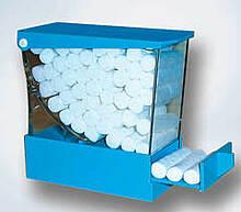 Диспенсеры голубые для ватных валиков из пластика cotton Rolls dispenser