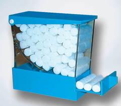 изображение Диспенсеры голубые для ватных валиков из пластика cotton Rolls dispenser