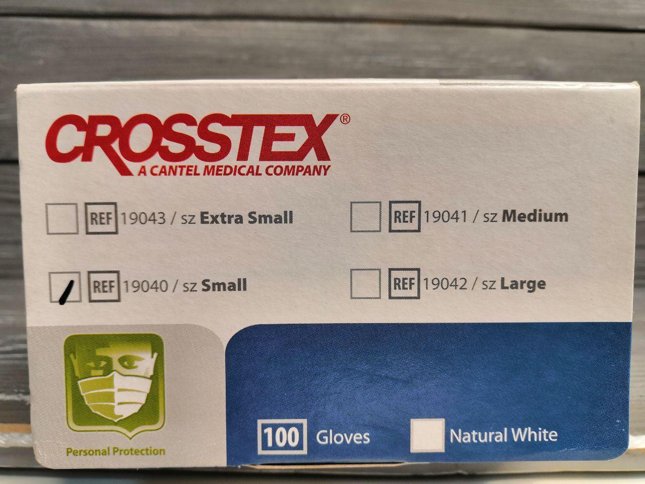 изображение Перчатки латексные текстурированные Crosstex NEW XS 100шт (50пар)